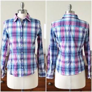 Brooks Brothers plaid button-down shirt